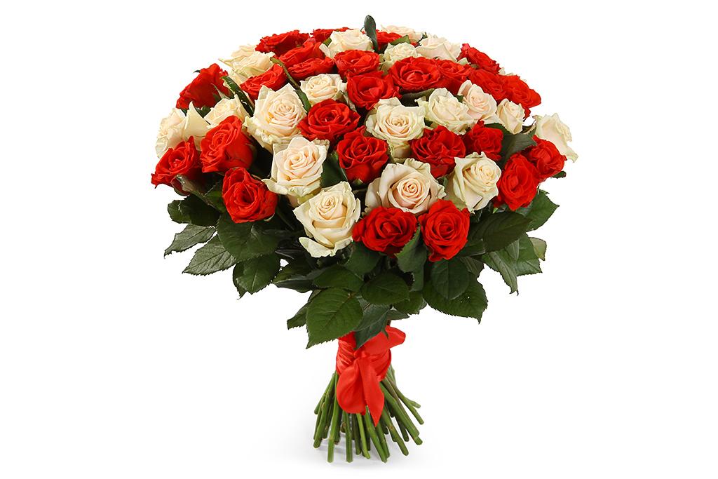 тебе желаю, букет из белых и алых роз фото простое